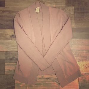 Taupe Faded Glory Open Cardigan